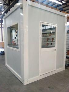 guérite modulaire vitrée en panneaux sandwich